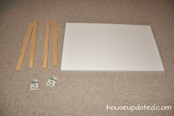 DIY kids' table supplies