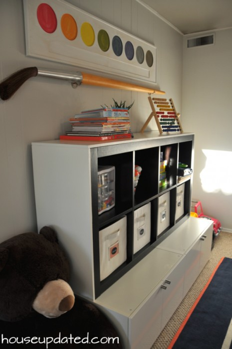 DIY large kid storage unit