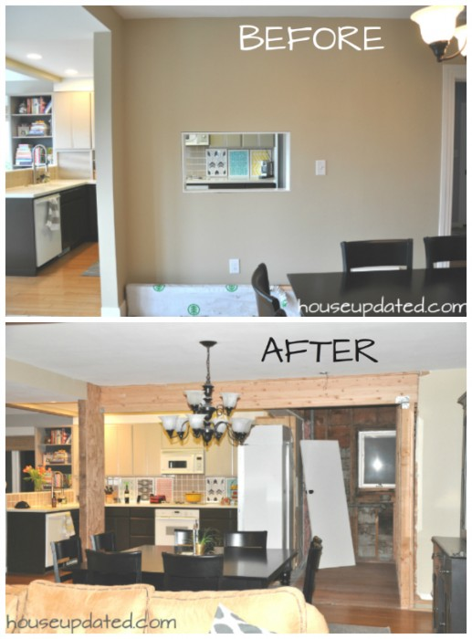 before after kitchen wall removal. Tearing Down and Moving Kitchen Walls   House Updated