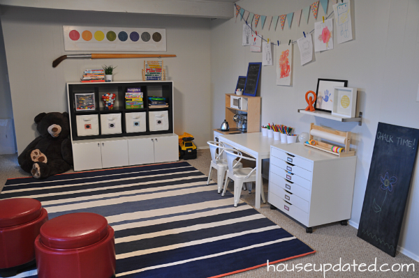 kids playroom basement
