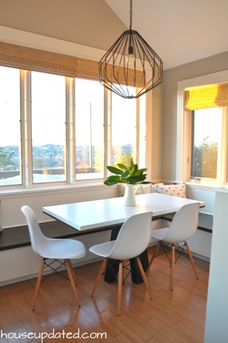 kitchen nook lighting. Bright Modern Breakfast Nook Light Union Pendant Chairs Kitchen Lighting