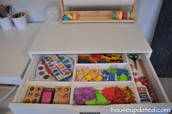 organized craft drawer