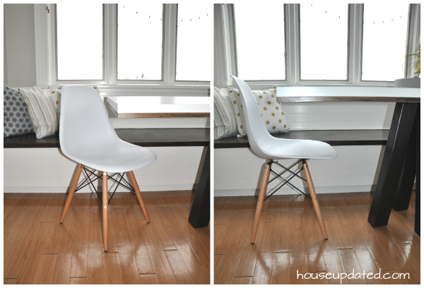 white shell eames chair knock-off