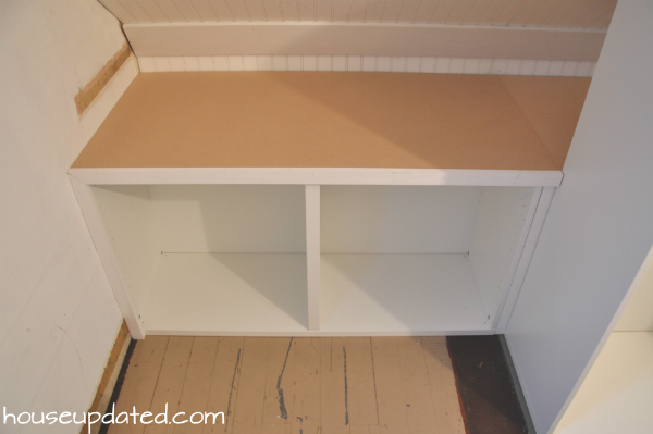built-in besta shelves with trim