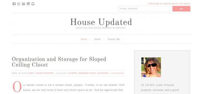 new blog layout