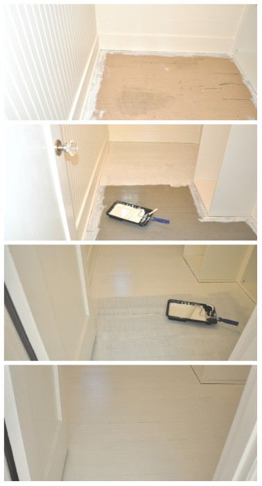 painting hardwood floors white