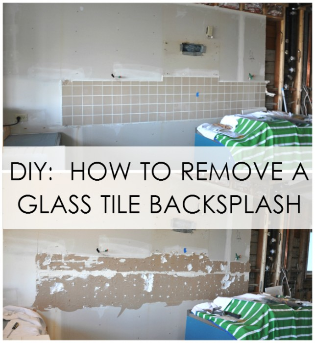 Kitchen Backsplash Removal diy: how to remove a glass tile backsplash - house updated