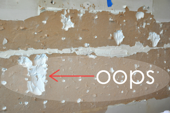 drywall backsplash removal
