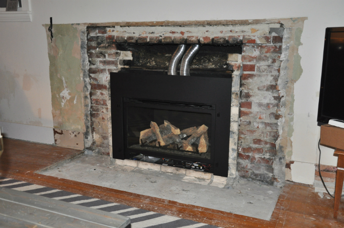 Fireplace Demo and New Gas Insert, Happening! - House Updated