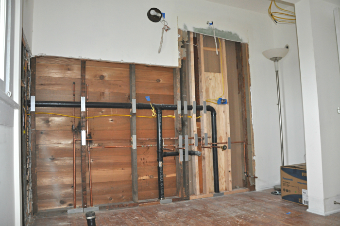 master bathroom plumbing
