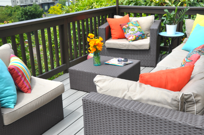 bright and happy outdoor deck