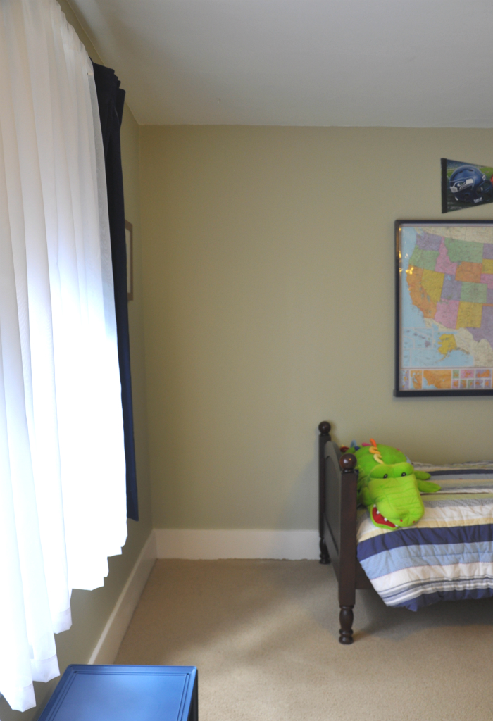 finished boy room wall