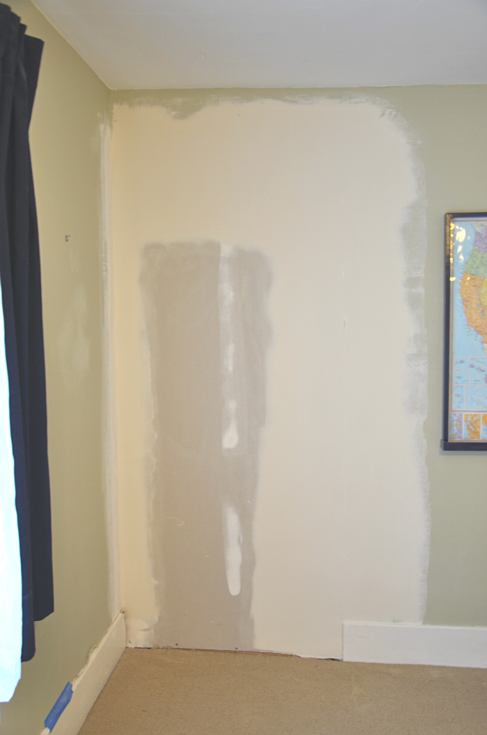 fixing drywall boy room