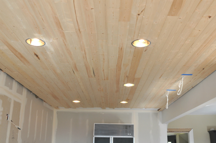 diy how to install a planked ceiling