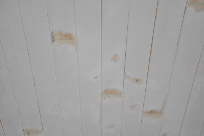 re-sanded ceiling close-up