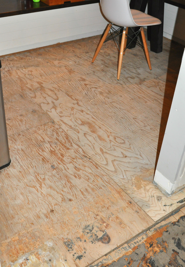 Uncovered Plywood Floors