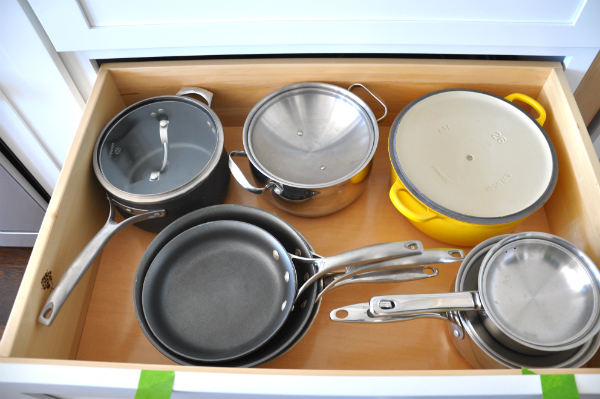 organized pot drawer