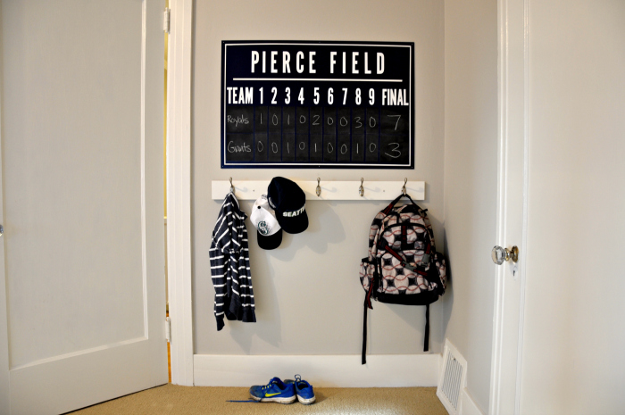 DIY Baseball Scoreboard And Hooks
