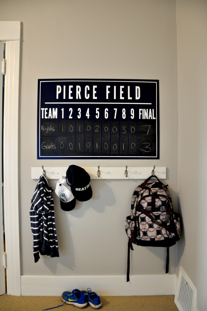 One Room Challenge Diy Baseball Scoreboard House Updated