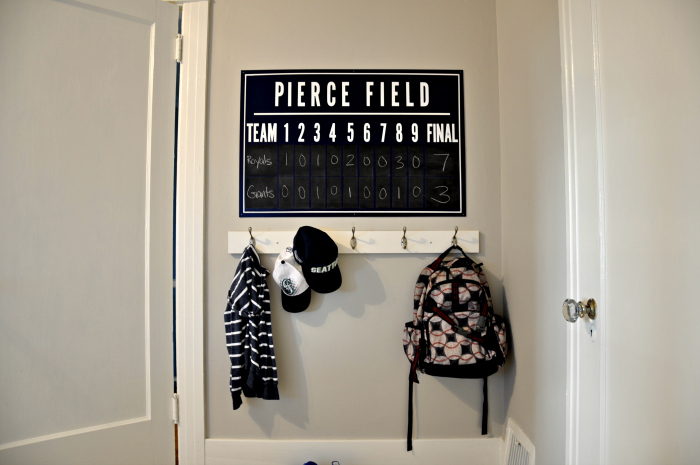 blue and white boys room