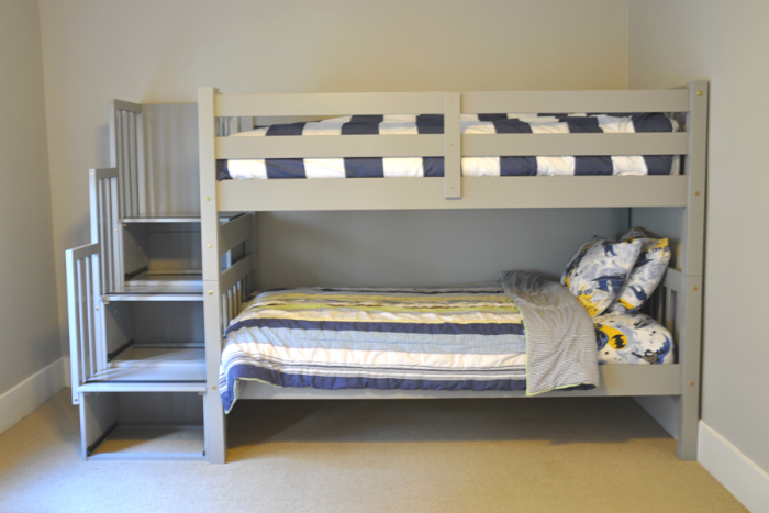 One Room Challenge: The Gray Bunk Beds Are In - House Updated