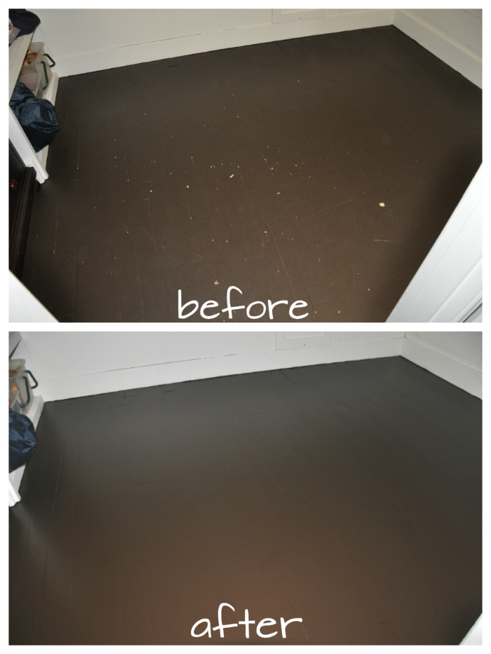 repainted floors