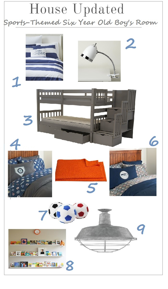 Creating a Sports-Themed Six Year Old Boy's Room (One Room Challenge)