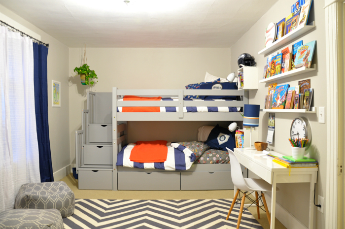 One Room Challenge:  Boys Sports Room Reveal