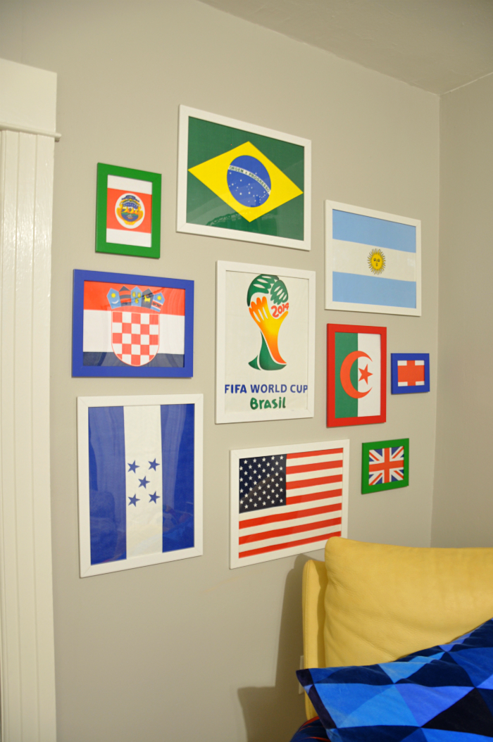 world cup flags gallery wall