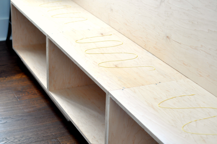 diy window seat drawer boxes