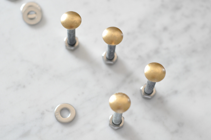DIY brass bolts