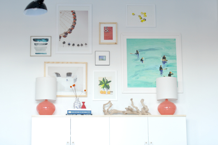 gallery wall buffet