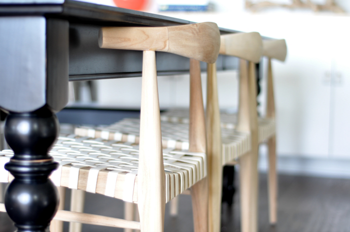 natural wood dining chairs