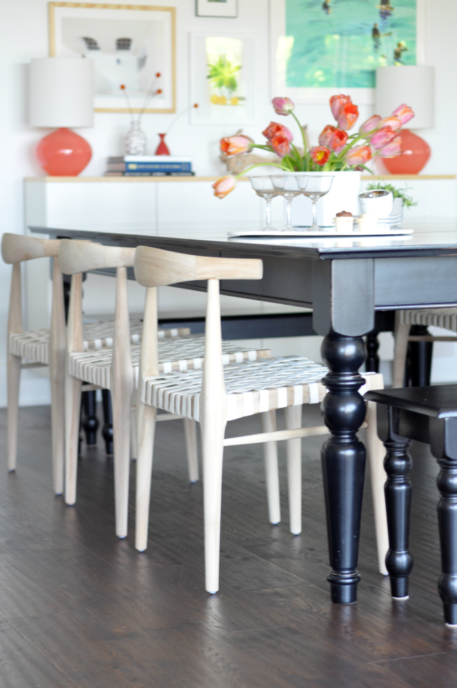 reveal natural wood dining chairs