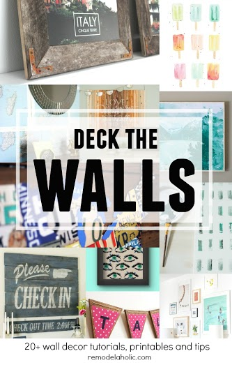 Deck the Walls, wall decor ideas at Remodelaholic