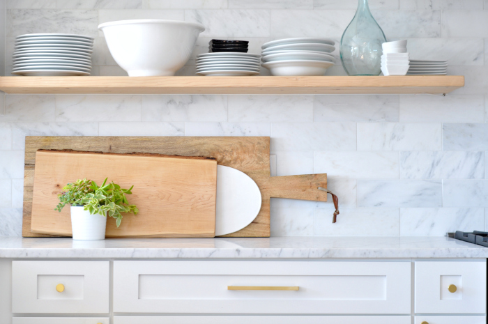 floating shelf cutting boards
