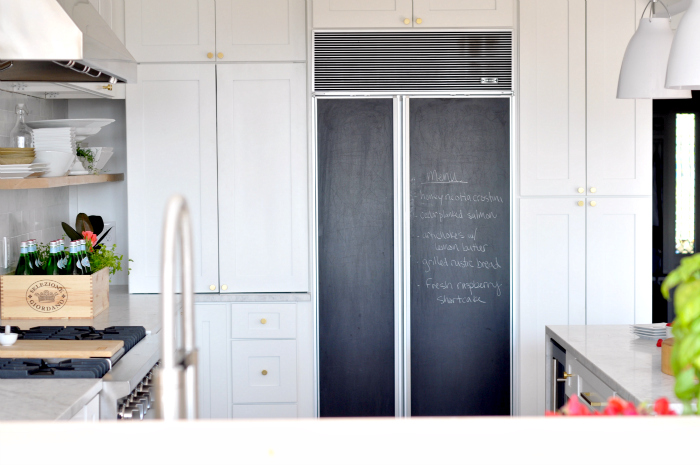 subzero chalkboard fridge