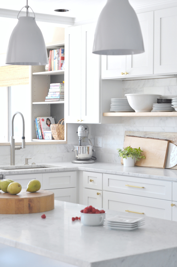 white wood kitchen