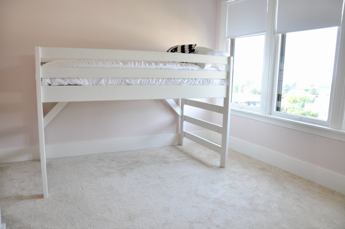diy white junior loft bed