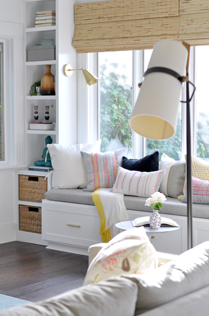 diy window seat living room modern lamps sconces