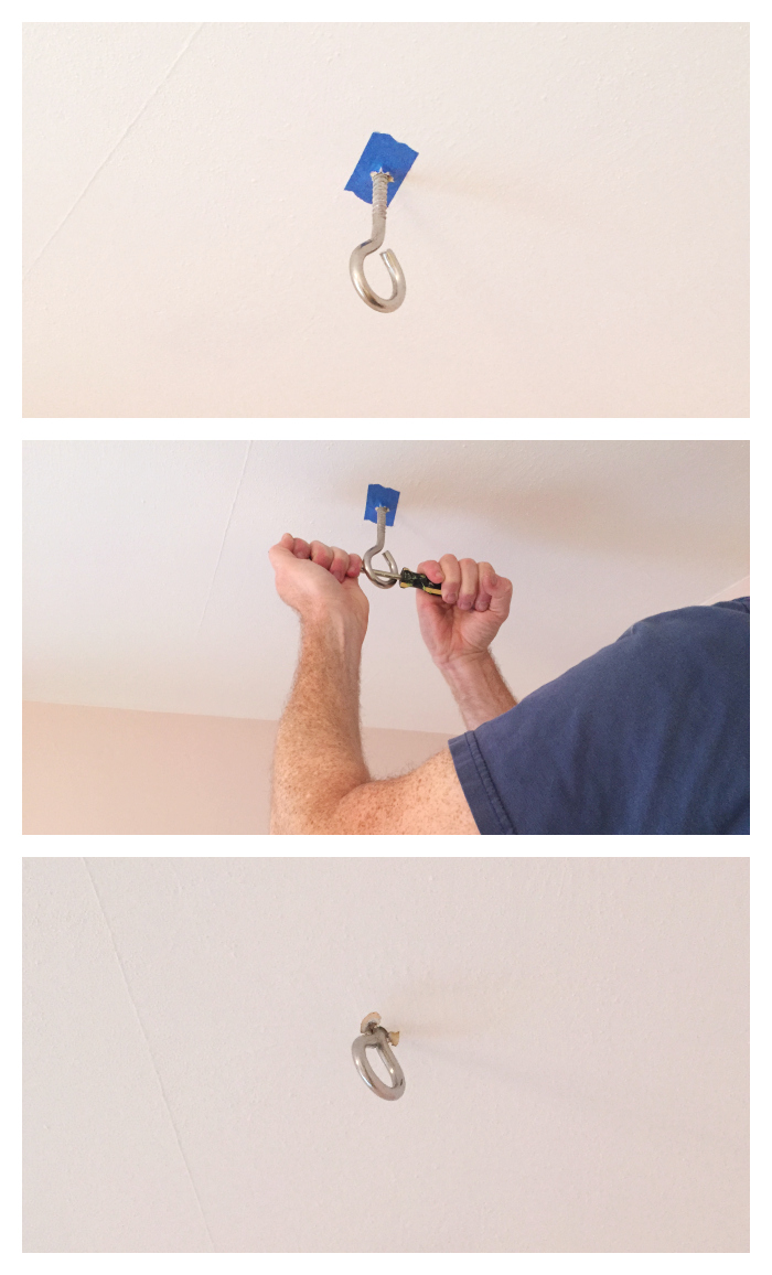 eye hook screw for hanging chair install