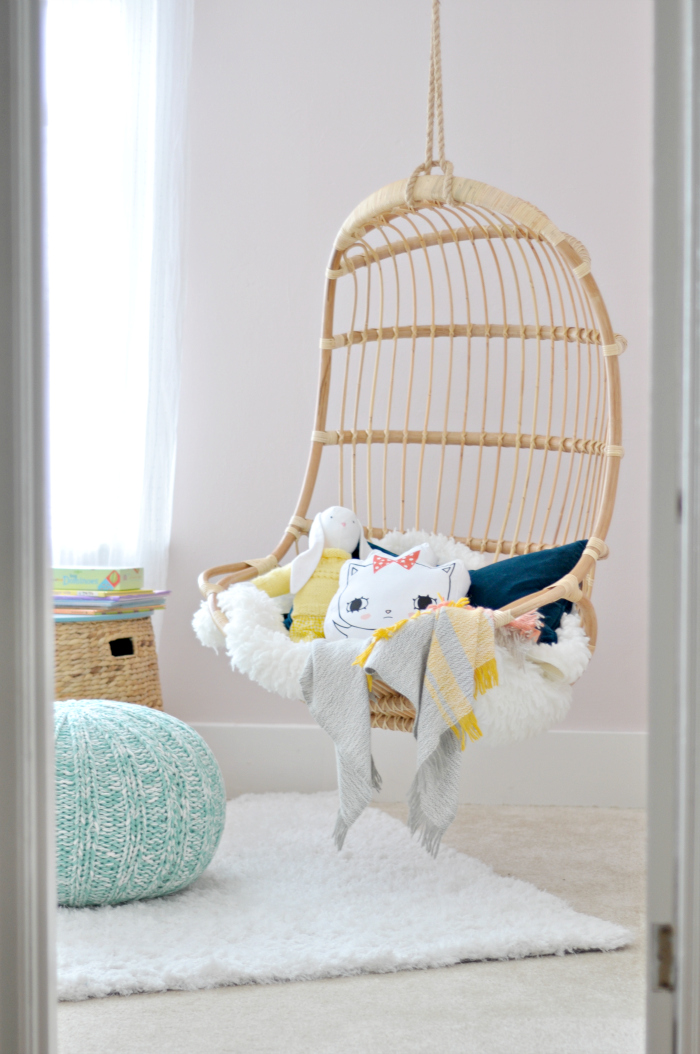 girl room hanging chair