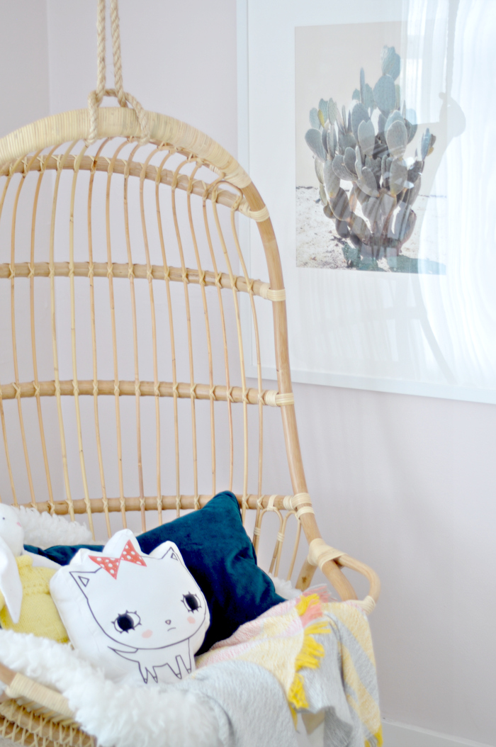 hanging chair art girl room
