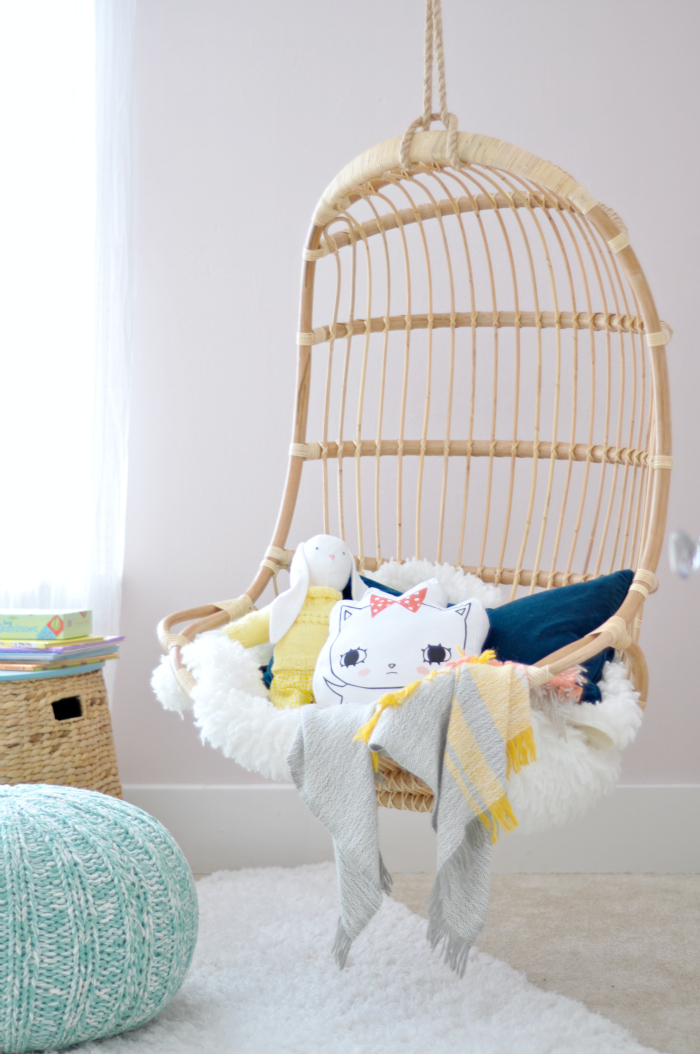 Hanging Chair Girl Room. Kid Room Hanging Chair