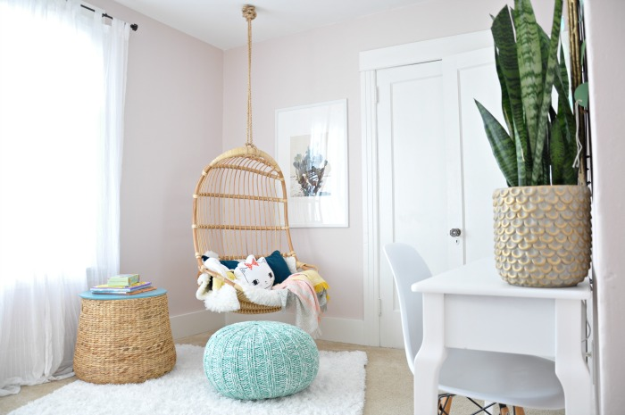 Girl Room Hanging Chair Pouf