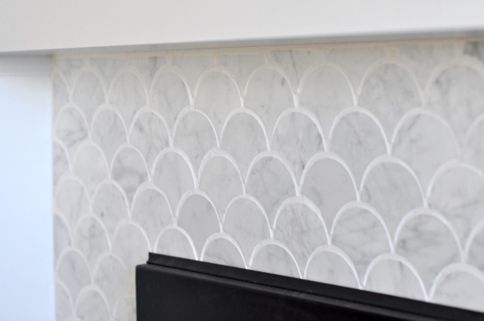 Scallop Fish Scale Mosaic White Marble Tile