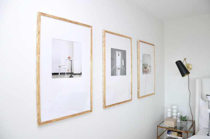 DIY: Large-Mat Offset Picture Frames - House Updated