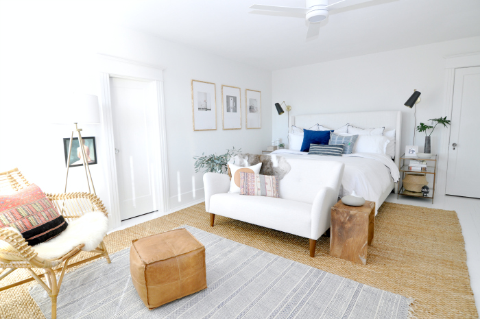 white bedroom jute rug