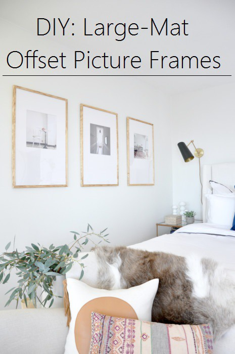 diy large mat offset picture frames
