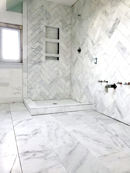 One Room Challenge Master Bathroom Laundry All The Tile Spring 2017 Week 4 House Updated